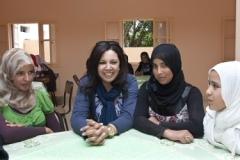 Visite-de-Mouna-Fettou-et-Narjiss-Nejjar-aux-foyers-du-CSSF-à-El-Jedida_2